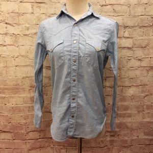vintage Western Wear Blue Oxford Cowgirl shirt